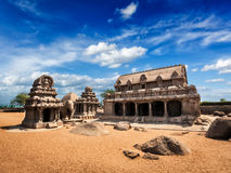 Five Rathas. Mahabalipuram, Tamil Nadu, South India Royalty Free Stock Images