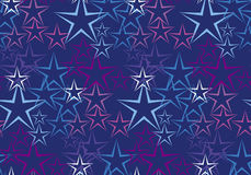 Five rayed star decorative background. Royalty Free Stock Image