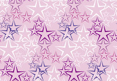 Five rayed star decorative background. Stock Photo