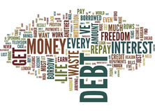 Five Reasons To Get Out Of Debt Text Background  Word Cloud Concept Royalty Free Stock Image