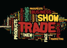 Five Reasons Trade Show Exhibits Are Popular Text Background  Word Cloud Concept Royalty Free Stock Image