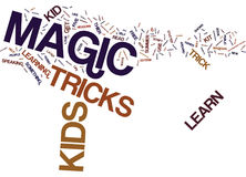 Five Reasons Your Kids Should Learn A Magic Trick This Summer Word Cloud Concept Stock Images
