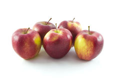 Five red apples Royalty Free Stock Image