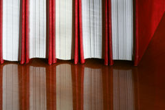 Five red books Royalty Free Stock Photo