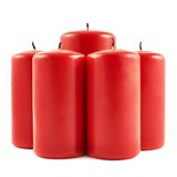 Five red candle composition isolated Royalty Free Stock Image