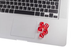 Five Red Dice Royalty Free Stock Image