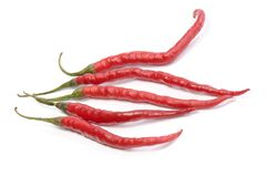 Five Red Hot Chili Peppers Stock Image