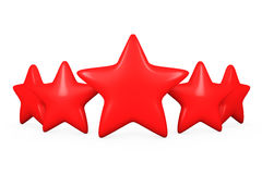 Five Red Stars Royalty Free Stock Images