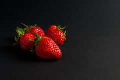 Five red strawberries Royalty Free Stock Photo