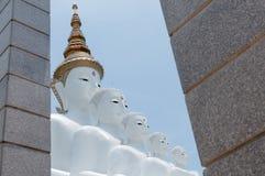 Five reincarnation buddha statue. Five white reincarnation buddha statue stock photos