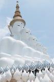 Five reincarnation buddha statue. Five white reincarnation buddha statue royalty free stock photography