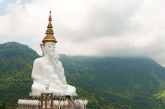 Five reincarnation buddha statue. Five white reincarnation buddha statue stock image