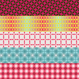 Set of five retro patterns. Set of five different retro patterns vector illustration