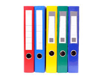 Five ring binders Stock Image