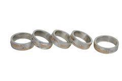 Five rings Royalty Free Stock Images