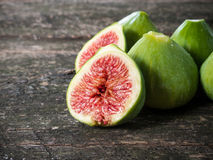 Figs on wooden table Stock Photos