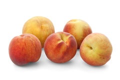 Five ripe peaches Royalty Free Stock Photos