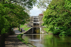 Free Five Rise Locks At Bingley West Yorkshire Stock Photo - 58663550