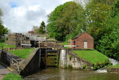 Five Rise locks at Bingley West Yorkshire Stock Image