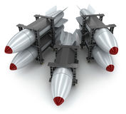 Five rockets Stock Images