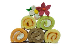 Five Roll Cakes Stock Photo