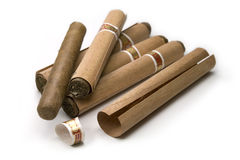 Five Romeo y Julieta cigars Stock Photography