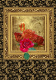 Five roses in frame Royalty Free Stock Photography