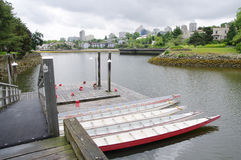 Five rowboats in False Greek, Vancouver , Canada Stock Photos