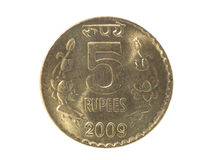 Five Rupee coin Stock Photography