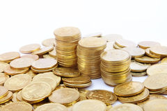 Five Rupee Gold Coins Stock Image