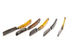 Five rusty razors Royalty Free Stock Image