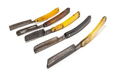 Five rusty razors Royalty Free Stock Images