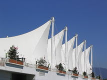 Five Sails. Vancouver Convention and Exhibition Center, with sail like structures that has become a symbol of the City of Vancouver Stock Photo