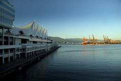 Five Sails. The Five Sails at Canada Place in Vancouver BC, Canada royalty free stock photos