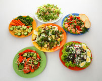 Five salads Royalty Free Stock Images