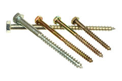 Five screws Royalty Free Stock Image