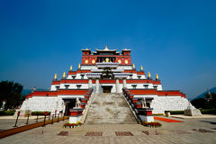 Five Seal Mandala temple. Scenic view of Wuyintancheng or Five Seal Mandala temple, Ling Shan, China stock image