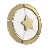 Five sector star emblem diagram isolated Royalty Free Stock Image