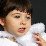 The Five Senses. Close Up of a Little Girl Royalty Free Stock Photo