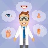 Five Senses. Funny illustration of five senses Stock Photos