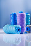 Five sewing spools Royalty Free Stock Photos