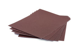 Five sheets sandpaper Stock Images