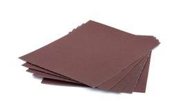 Five sheets sandpaper Stock Images