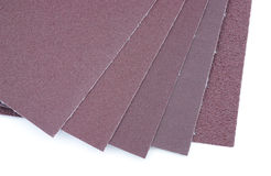 Five sheets sandpaper Royalty Free Stock Photography