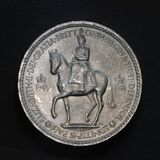 Five shilling coin. Close up of five shilling coin Stock Images