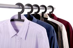 Five shirts stock images