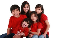 Five siblings Royalty Free Stock Photography