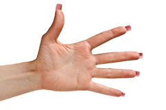 Five sign Stock Photo