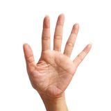 Five signal raise up, making by hand Royalty Free Stock Photography