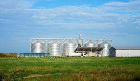 Five silos Royalty Free Stock Photography